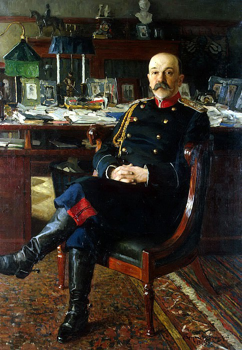 Bogdanov-Belsky Nikolai Petrovich - Portrait of the Adjutant-General PP Hesse. Hermitage ~ part 02
