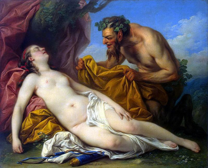 Vanloo, Charles - Jupiter and Antiope. Hermitage ~ part 02