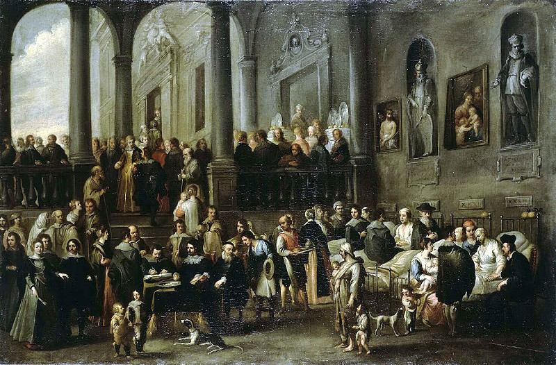 Val, Cornelis de - Visiting the hospital honored guests. Hermitage ~ part 02