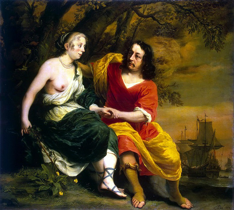 Bol Ferdinand - Portrait of a wine merchant and his wife in the form of Bacchus and Ariadne. Hermitage ~ part 02