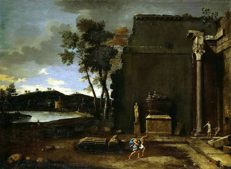 Blanchet, Thomas - Landscape with sarcophagus. Hermitage ~ part 02