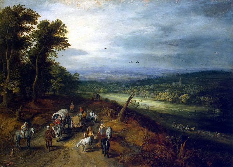 Brueghel, Jan the Elder - Country road. Hermitage ~ part 02