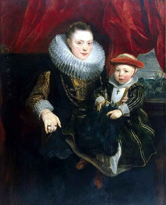 Van Dyck, Anthony - Portrait of a young woman with a child. Hermitage ~ part 02