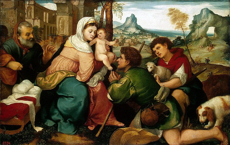 Bonifacio Veronese - Adoration of the Shepherds. Hermitage ~ part 02