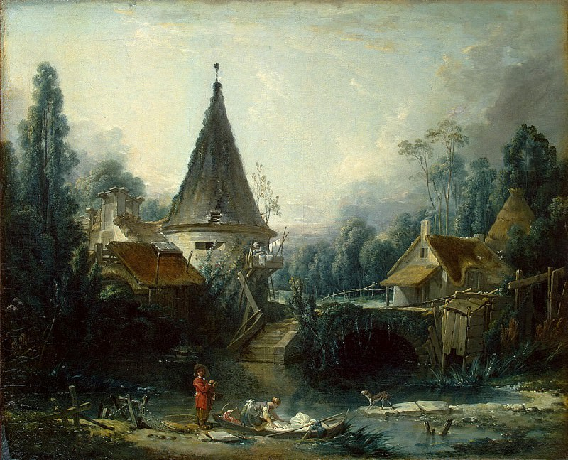 Boucher, Francois - Landscape around Beauvais. Hermitage ~ part 02