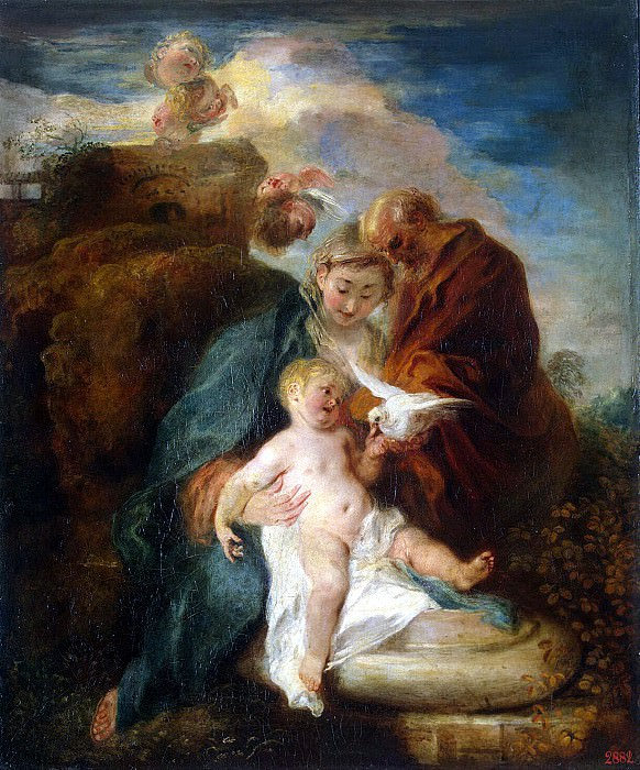 Antoine Watteau - The Holy Family. Hermitage ~ part 02