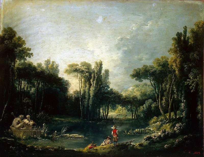 Boucher, Francois - Landscape with pond. Hermitage ~ part 02