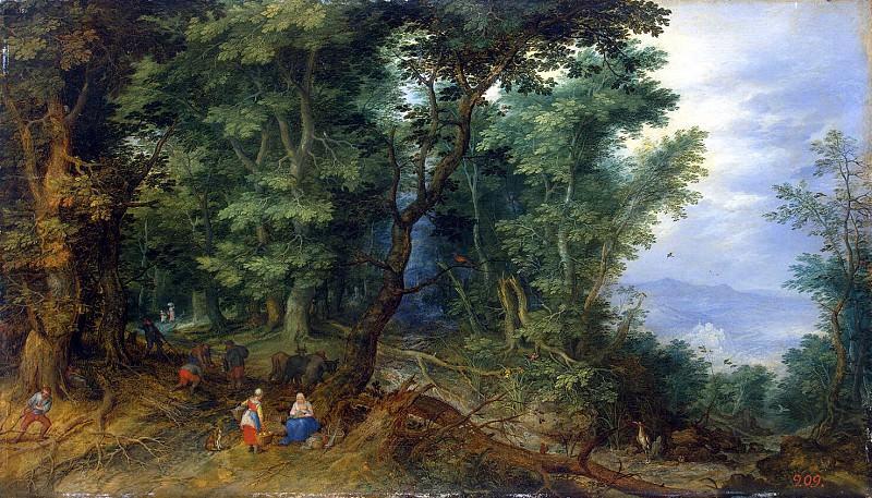 Брейгель, Ян Старший - Лесной пейзаж. Эрмитаж ~ часть 2