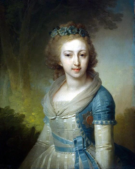 Borovikovsky, Vladimir Lukic - Portrait of Grand Duchess Elena Pavlovna. Hermitage ~ part 02