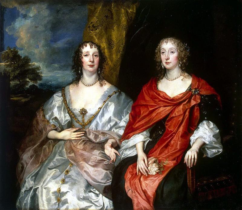 Van Dyck, Anthony - Portrait of the ladies, Mrs. George Kirk and unknown lady. Hermitage ~ part 02