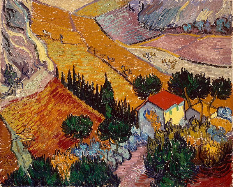 Van Gogh Vincent - Landscape with House and plowman. Hermitage ~ part 02