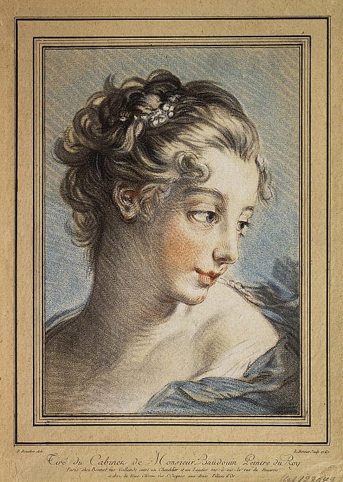 Bonnet, Louis Marin - Womens head. Hermitage ~ part 02