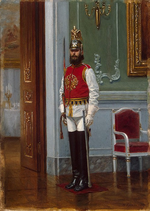 Bunin, N. Narkiz - Time Life Guards Regiment in the Winter Palace. Hermitage ~ part 02
