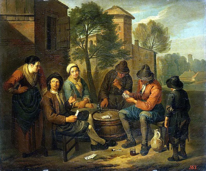 Блумен, Норберт ван - Крестьяне, играющие в карты. Эрмитаж ~ часть 2