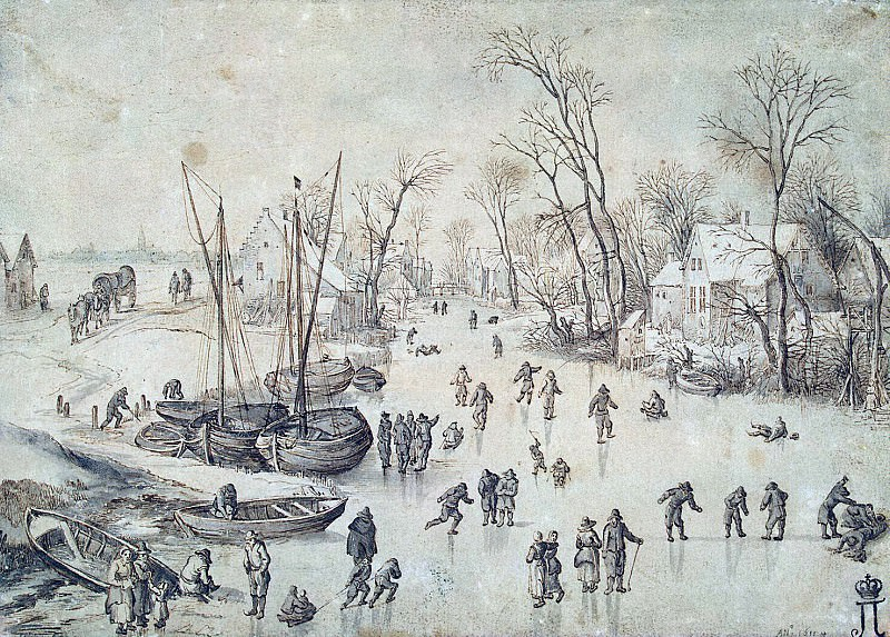 Brueghel, Jan the Elder - Winter landscape. Hermitage ~ part 02