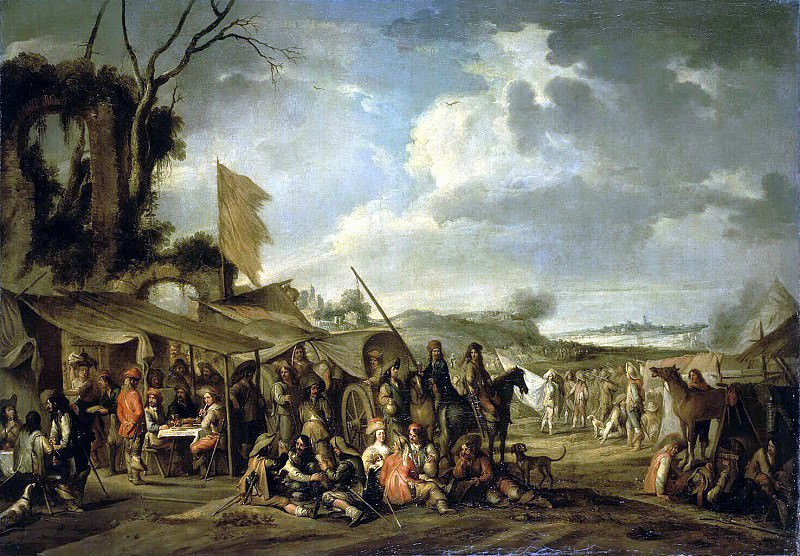 Val, Cornelis de - A military camp near the ruins. Hermitage ~ part 02