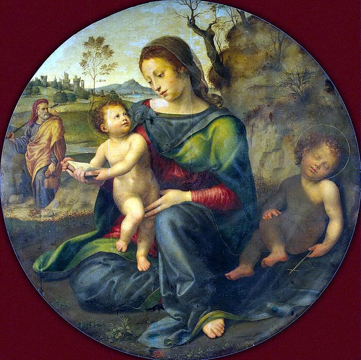 Budzhardini, Giulio di Pietro di Simone - Madonna with Child, St. Joseph and John the Baptist. Hermitage ~ part 02