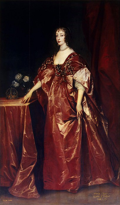 Van Dyck, Anthony - Portrait of Queen Henrietta Maria. Hermitage ~ part 02