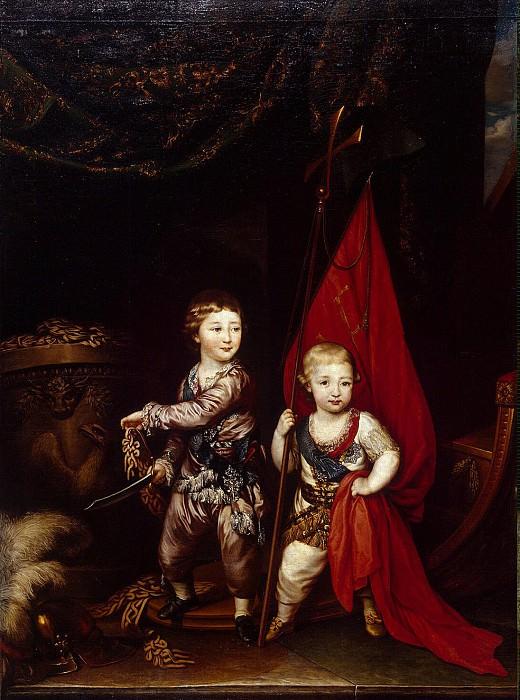 Brompton, Richard - Portrait of Grand Dukes Alexander Pavlovich and Constantine Pavlovich. Hermitage ~ part 02