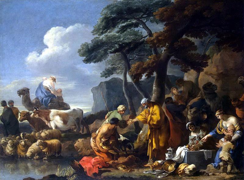 Bourdon, Sebastien - Jacob buries the idols in the land of Shechem under an oak tree (2). Hermitage ~ part 02