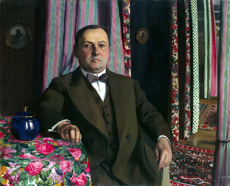 Vallotton Felix - Portrait of GE Haas. Hermitage ~ part 02