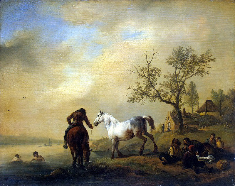 Vauverman, Philips - Horses at a Watering. Hermitage ~ part 02