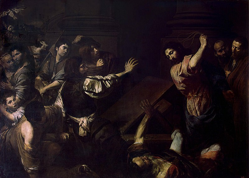 Valentin de Boulogne - Expulsion of merchants from the temple. Hermitage ~ part 02