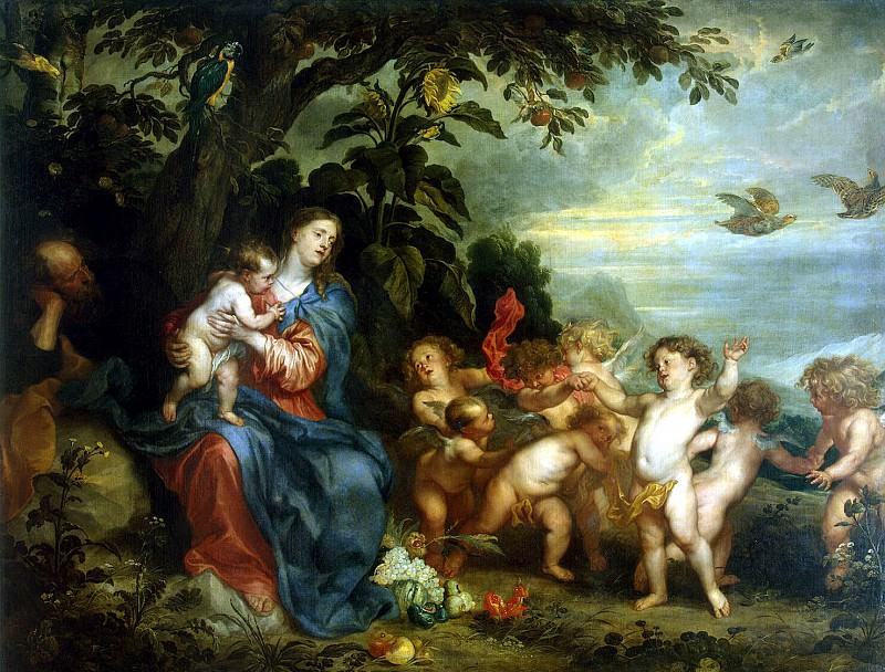 Van Dyck, Anthony - Rest on the Flight into Egypt. Hermitage ~ part 02
