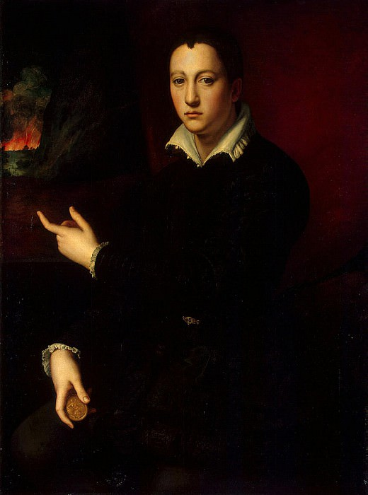 Bronzino Angelo - Portrait of Cosimo I de Medici. Hermitage ~ part 02