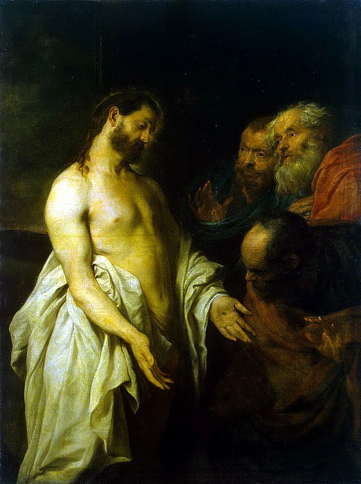 van Dyck, Anthony - Appearance of Christ to his disciples. Hermitage ~ part 02