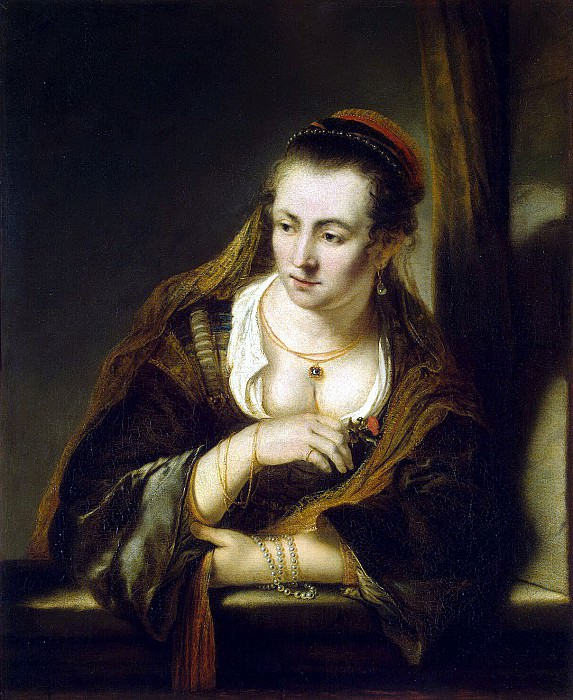 Bol, Ferdinand - A young woman at the window. Hermitage ~ part 02