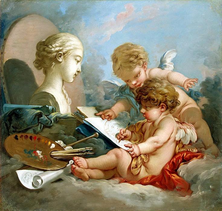 Буше, Франсуа - Амуры - аллегория живописи. Эрмитаж ~ часть 2