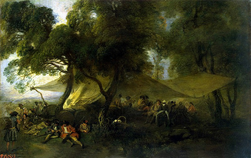 Antoine Watteau - Military groove for. Hermitage ~ part 02