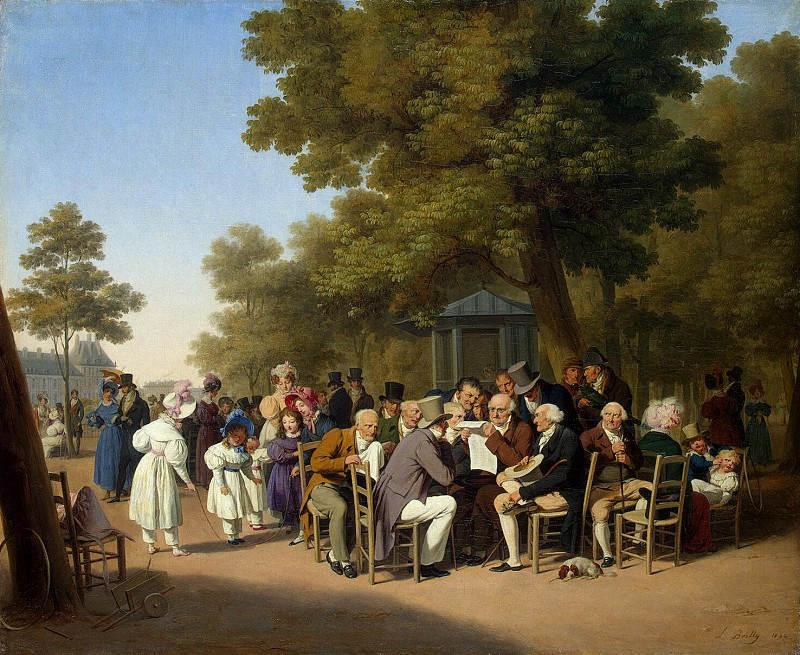 Boualem Louis-Leopold - Politicians in the Tuileries garden. Hermitage ~ part 02