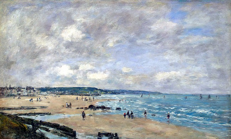 Boudin, Eugene - Beach at Trouville. Hermitage ~ part 02