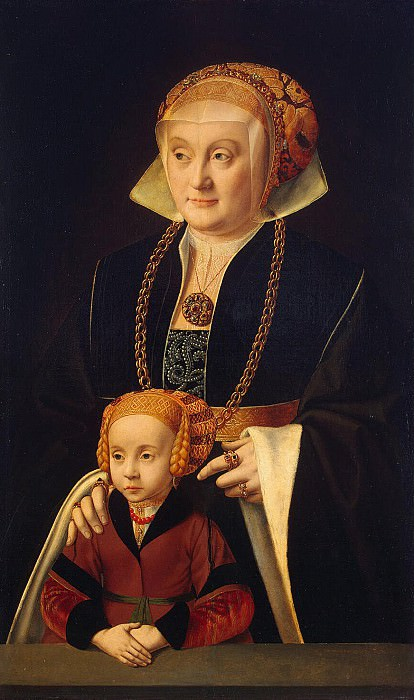 Brain Bartholomeus Elder - Portrait of a Lady with her daughter. Hermitage ~ part 02