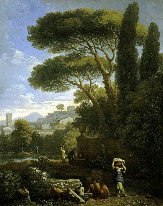 Bloom, Jan Frans van - Landscape with a fountain. Hermitage ~ part 02