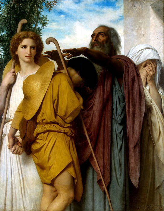 William Bouguereau, Adolphe William - Tobias farewell to his father. Hermitage ~ part 02