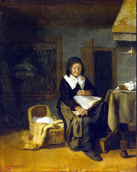 Bos, Pieter van den - The old woman reading. Hermitage ~ part 02