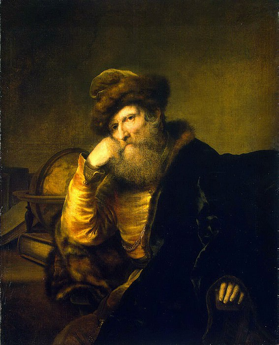 Bol Ferdinand - Portrait of a scientist sitting at the table. Hermitage ~ part 02