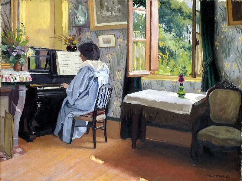 Vallotton Felix - Woman at the piano. Hermitage ~ part 02