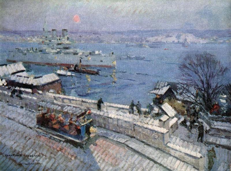 Sevastopol winter. 1916. Konstantin Alekseevich Korovin