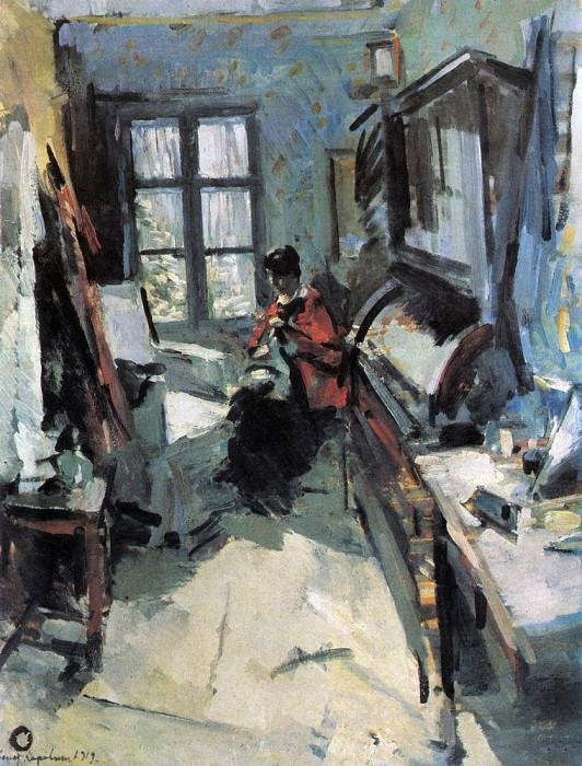 In the room. 1919. Konstantin Alekseevich Korovin