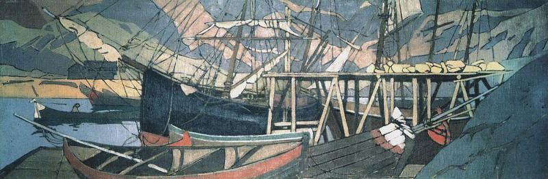 U encampments ship. 1899-1900. Konstantin Alekseevich Korovin