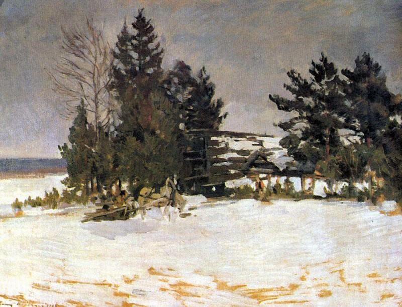 Winter. Konstantin Alekseevich Korovin