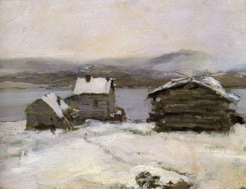 Winter in Lapland. 1894. Konstantin Alekseevich (1861-1939) Korovin