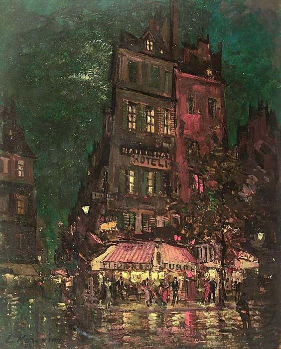 Paris. Calle Venice. 1927. Konstantin Alekseevich Korovin