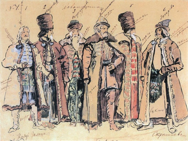 Prince Golitsyn and the boyars. 1910. Konstantin Alekseevich Korovin