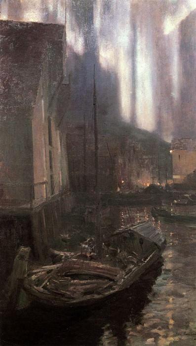 Hammerfest. Northern Lights. 1894-1895. Konstantin Alekseevich Korovin