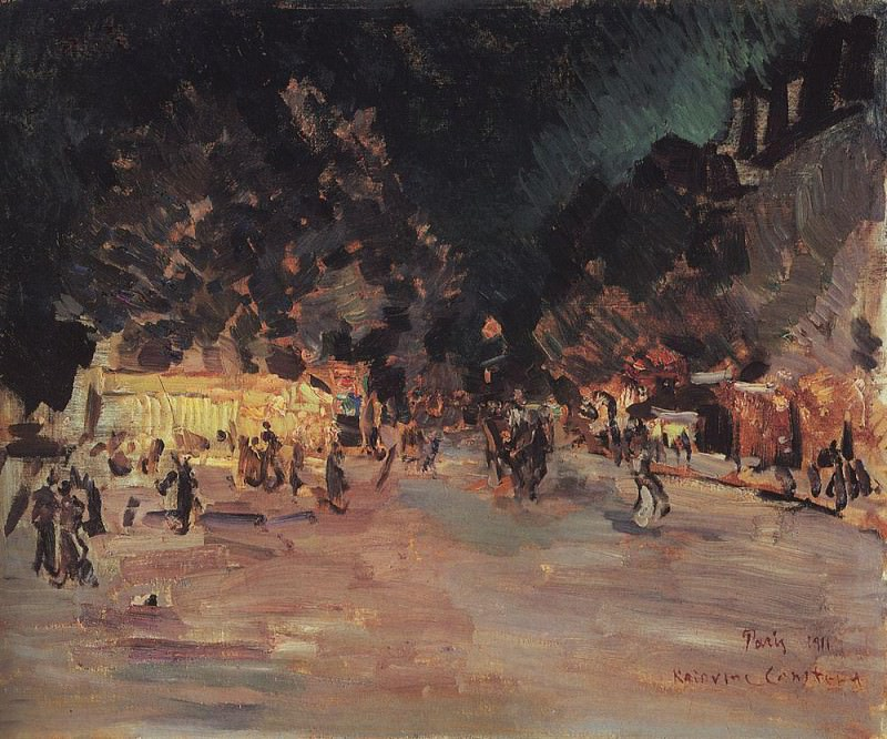 Paris by night. 1911. Konstantin Alekseevich Korovin